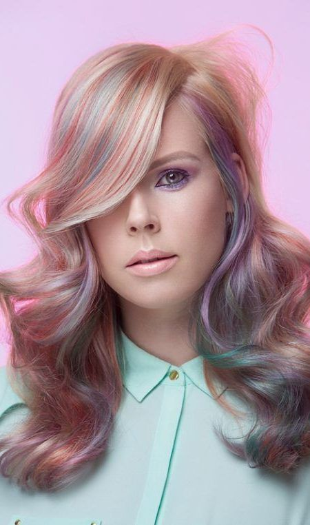 2017 Blonde Hair Colors With Pastel Highlights Best Hair Color