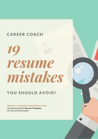 19 resume mistakes you should avoid - resume mistakes