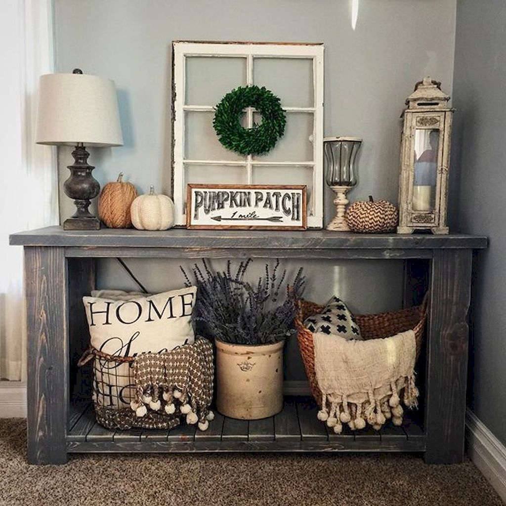 Adorable catchy farmhouse rustic entryway decor ideas