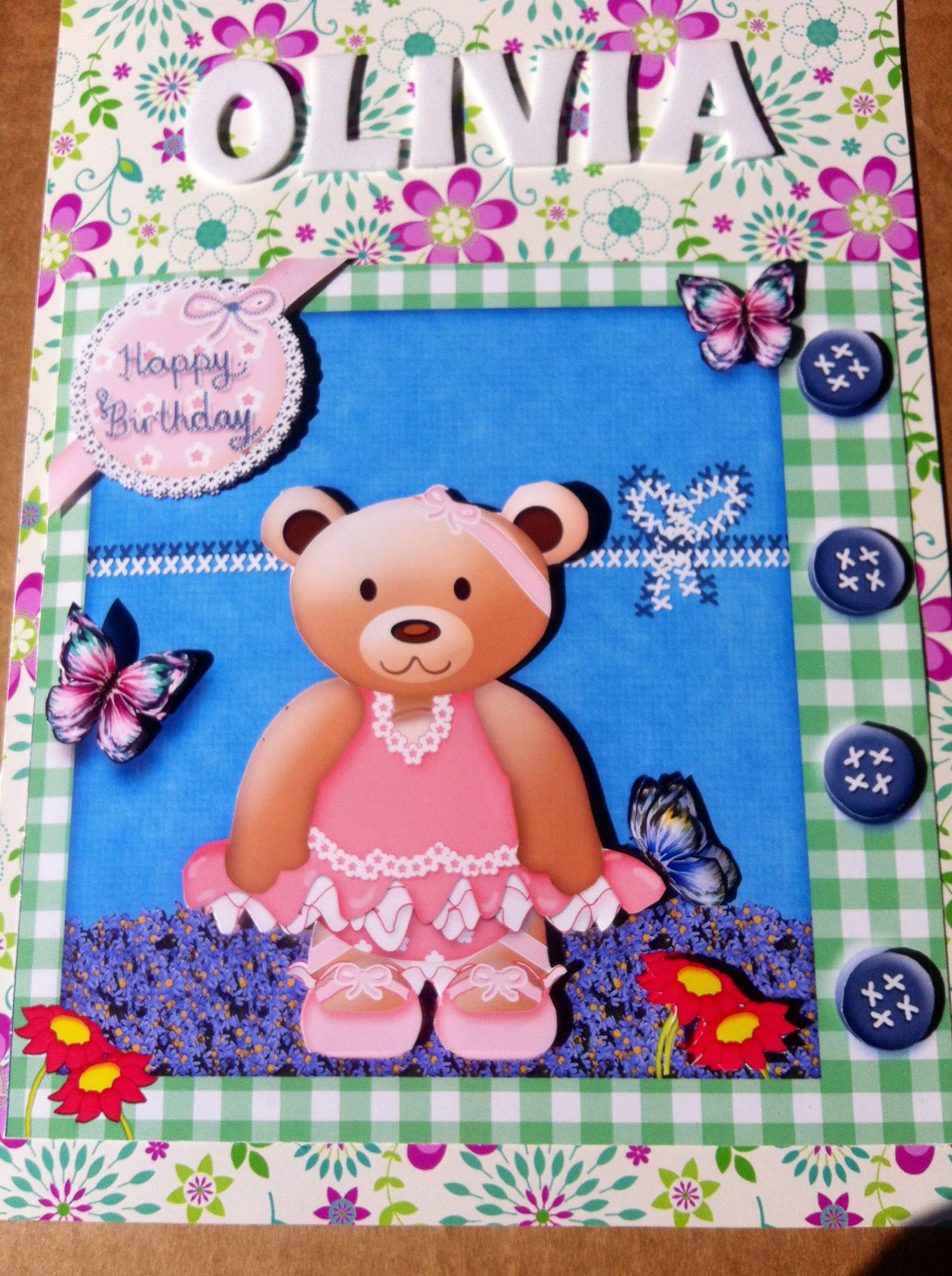 Birthday Card For 2 Year Old Girl Cards 3 Pinterest Card