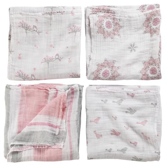 Aden And Anais Swaddle Blankets Impressive The Land Of Nod  Birds Swaddling Blankets In Baby Quilts & Blankets Inspiration Design