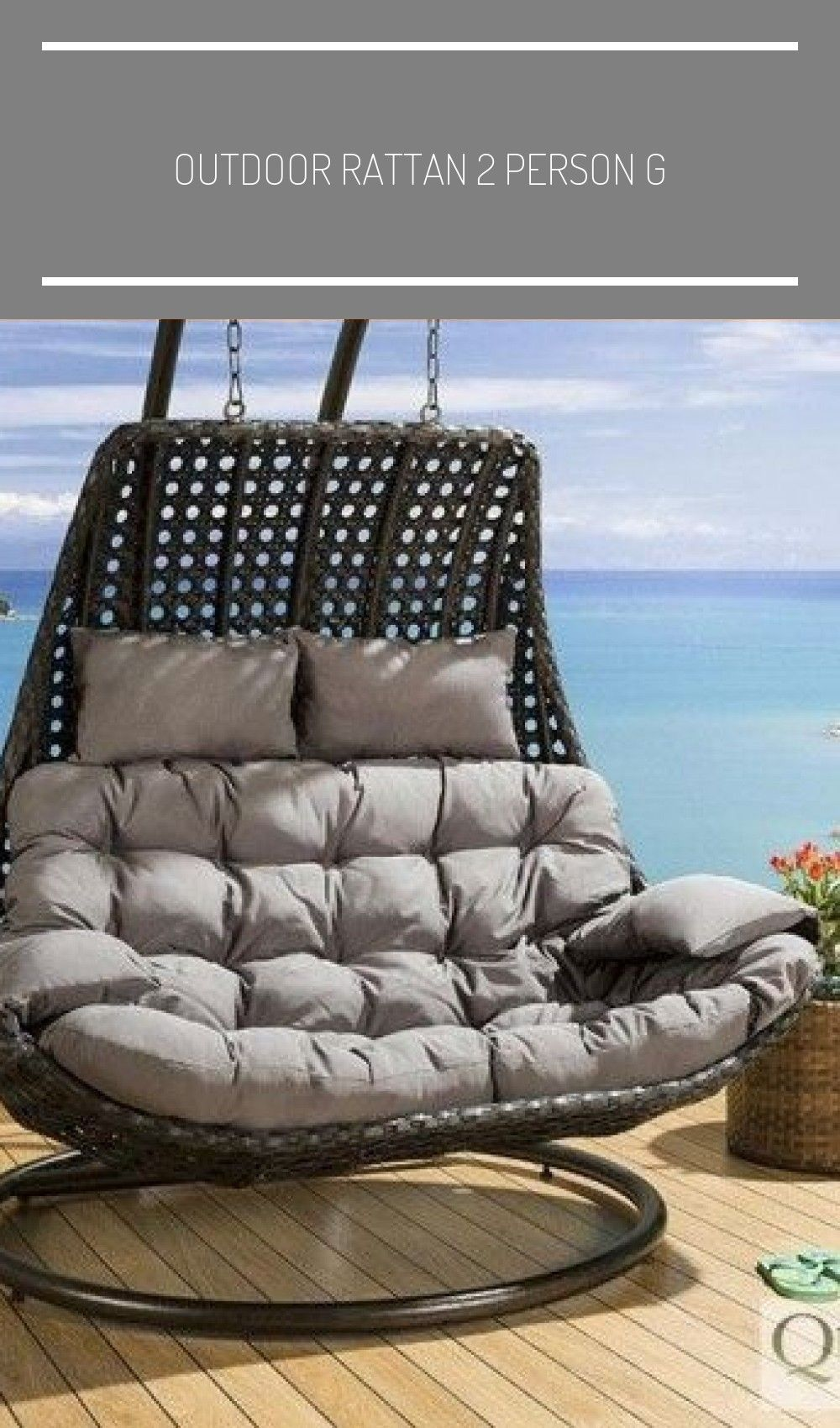 Outdoor Rattan 2 Person G