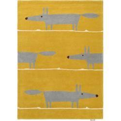 Scion Wollteppich Mr Fox Gelb 140×200 cm – Naturfaserteppich aus Wolle ScionScion