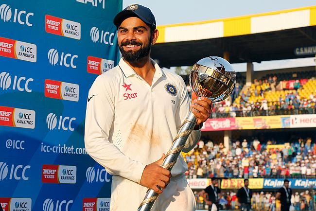 Image result for kohli with icc mace