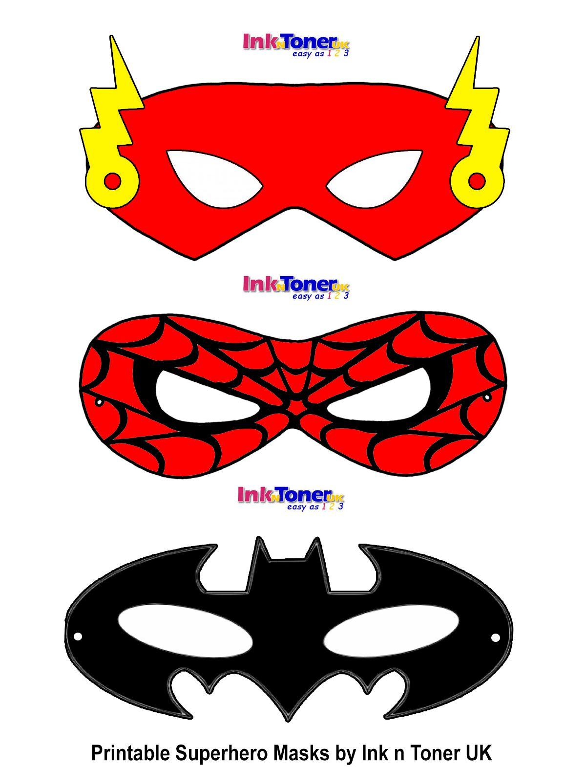 Printable Superhero Masks For Super Hero Day