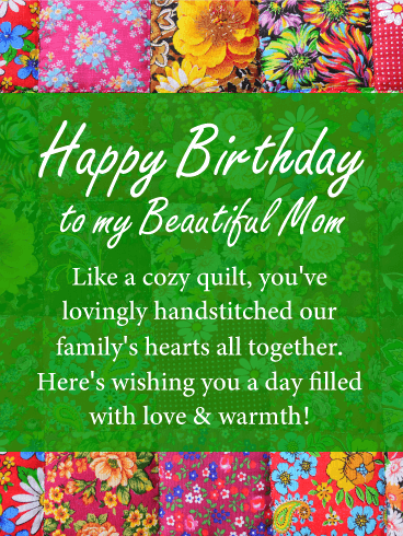 Love Warmth Happy Birthday Card For Mother This Birthday Card