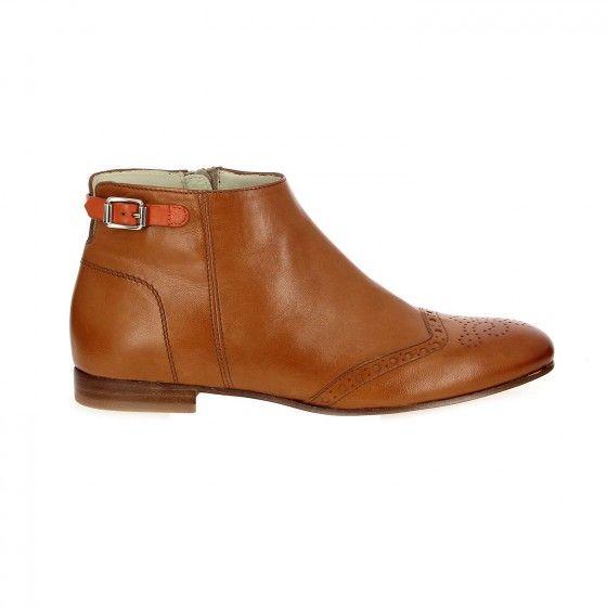 chaussures LYS Boots TRIVER marron Bessec fleuries FLIGHT uTwOPXlZki