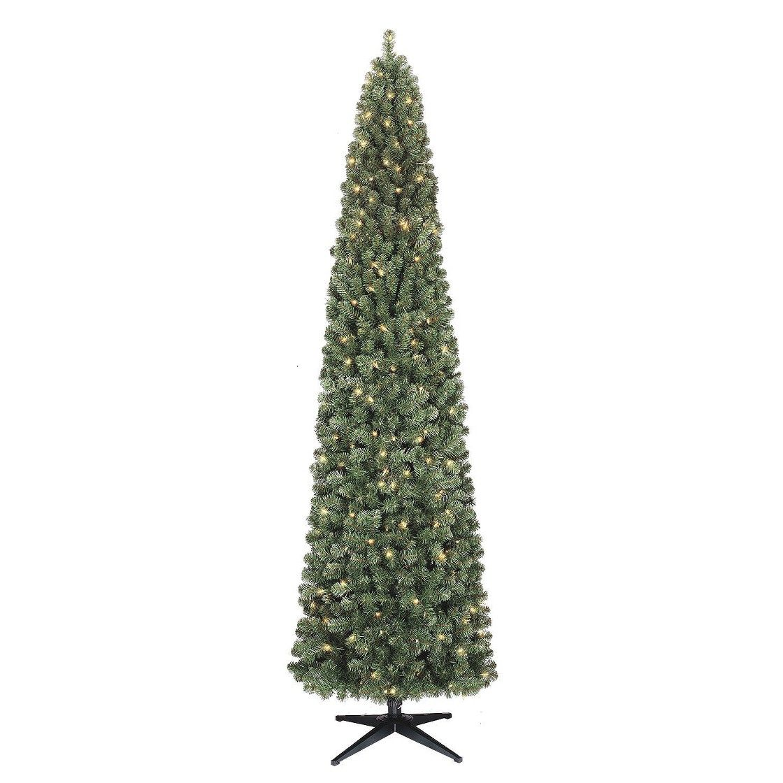 9' Prelit Slim Alberta Spruce Christmas Tree - Clear ...