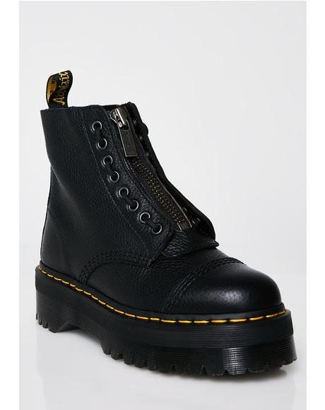 Dr Martens | Dr Martens Sinclair Black Leather Zip Chunky