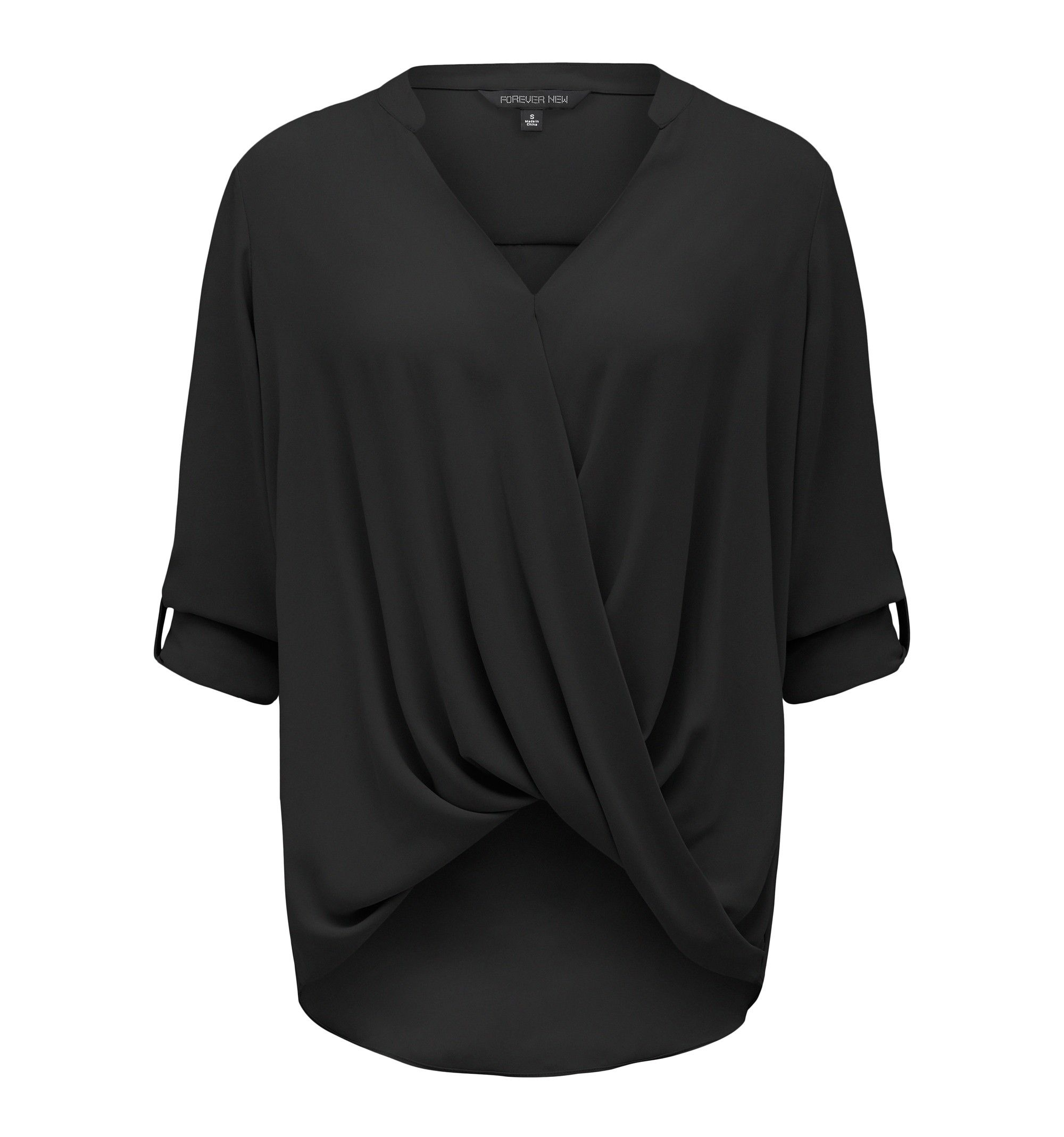 Amy Wrap Blouse Black - Womens Fashion | Forever New | Dresses ...