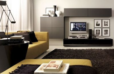modern living room design with chocolate brown mustard sofa ...
