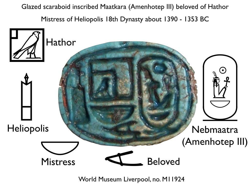 Glazed Scaraboid Heliópolis 18 th Dynasty about 1390- 1353 BC.