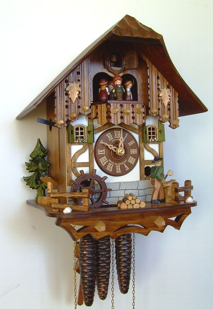 cuckoo kingdom inc cuckoo clock schneider best seller wood chopper dancer mt 6563 9. Black Bedroom Furniture Sets. Home Design Ideas
