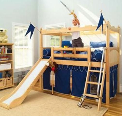 Space Saving Furniture Ideas Loft Bedroom Interiors: Space Saving Bed For Children Toddler
