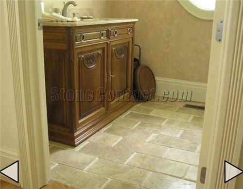 Travertine flooring - like the brick-like pattern. | home ...