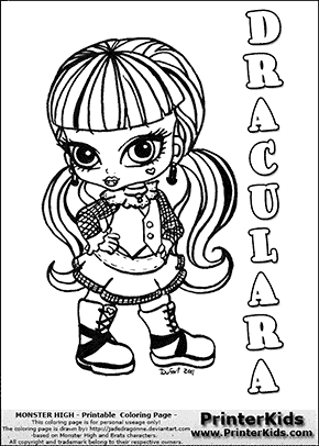 Cool Monster High Coloring Pages Pdf 34 Monster High Draculara Baby