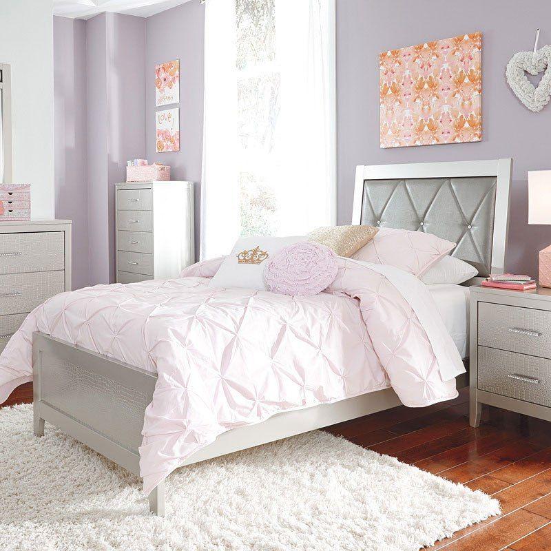 Ashley Anarasia 5PC Full Sleigh Headboard Bedroom Set With