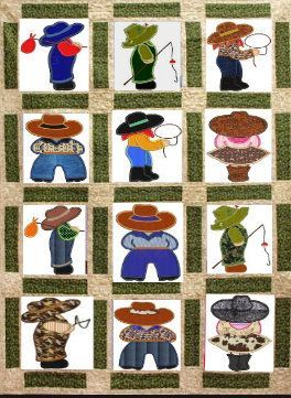 Photo of REVISED Cowboy Bill inspired machine embroidery Applique design,4 sizes,8 formats(dst,exp,jef,hus,pes,vip,vp3,xxx),instant download,1 zip