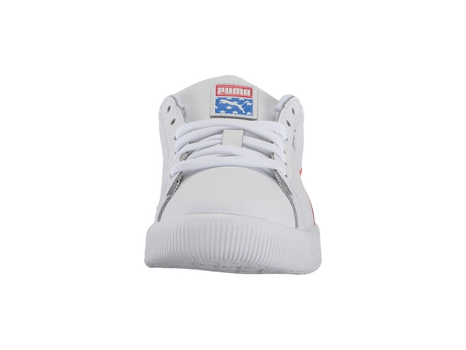 check out ab562 ca243 Puma Kids Clyde 4th of July (Little Kid/Big Kid) Boy's Shoes ...