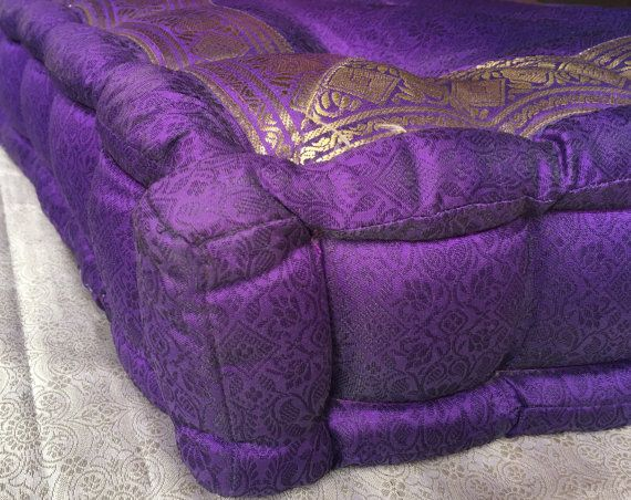 Dark Purple Floor Cushion Meditation Pillow By Taradesignla