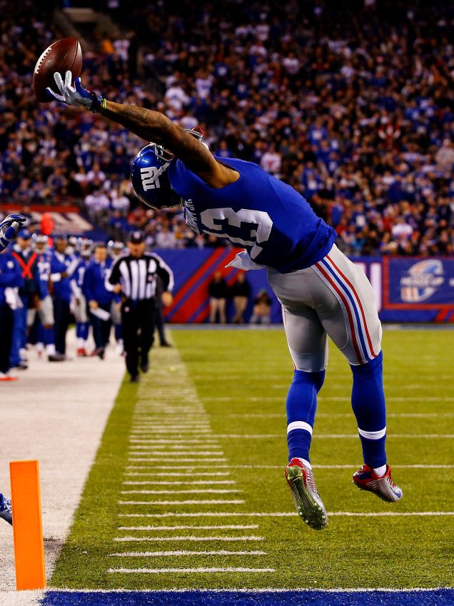 """Odell Beckham Famous Catch Wall Decal 32/""""x20/"""" NY Giants Odell Beckham Poster"""