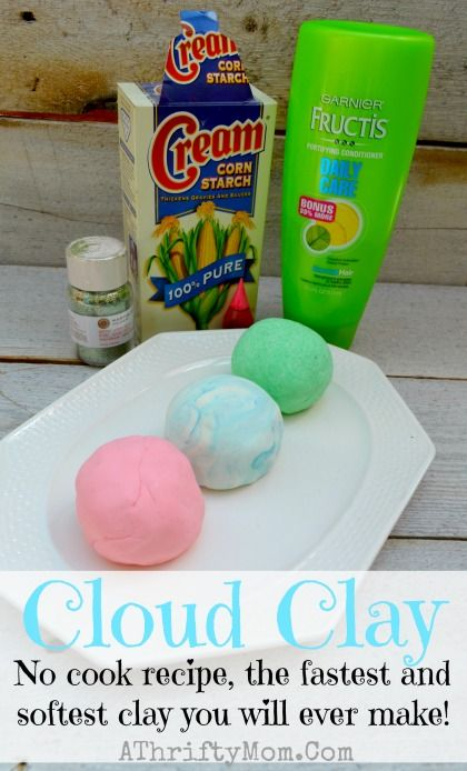 cloud clay ~ softest clay ever, only 2 ingredients no cook recipecloud clay recipe, only need two things to make this no cook recipe the fastest and softest clay you will ever make playdough, clay, di