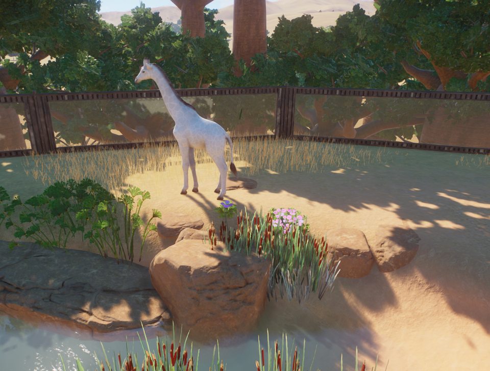 Photo of First albino animal and of course it's in a world I made to mess around and not …