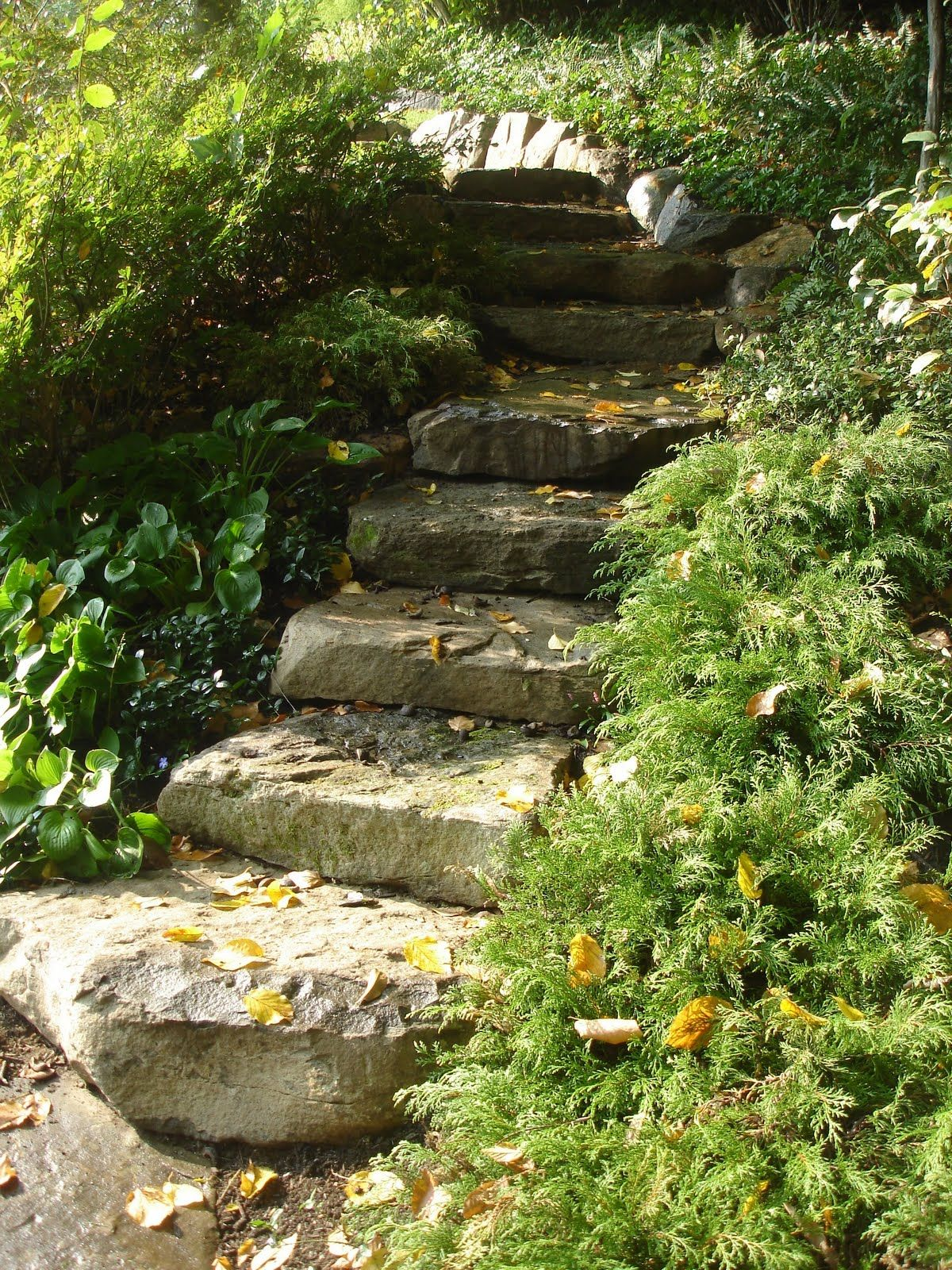 Charming Landscape Steps On A Slope For Garden