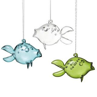 Glass fish ornaments - perfect for the holiday season!