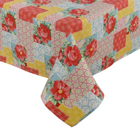 The Pioneer Woman Patchwork Tablecloth Multi 60in X 84in Patchwork Tablecloth Pioneer Woman Table Cloth
