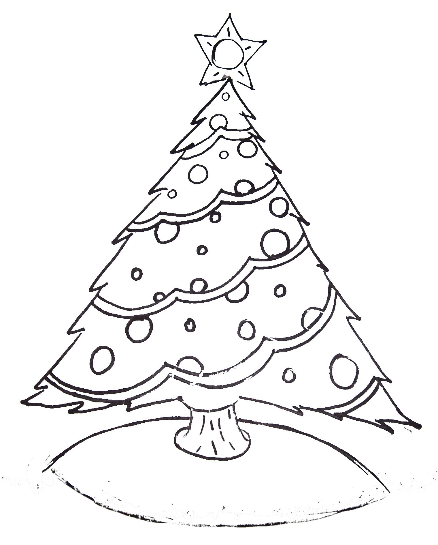 Coloring pages of christmas trees for kids - Free Printable Christmas Tree Coloring Pages