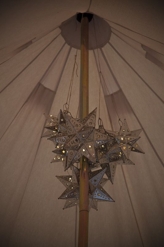 Mexican Star lights chandelier - Bell Tent interiors & Mexican Star lights chandelier - Bell Tent interiors | Tents ...