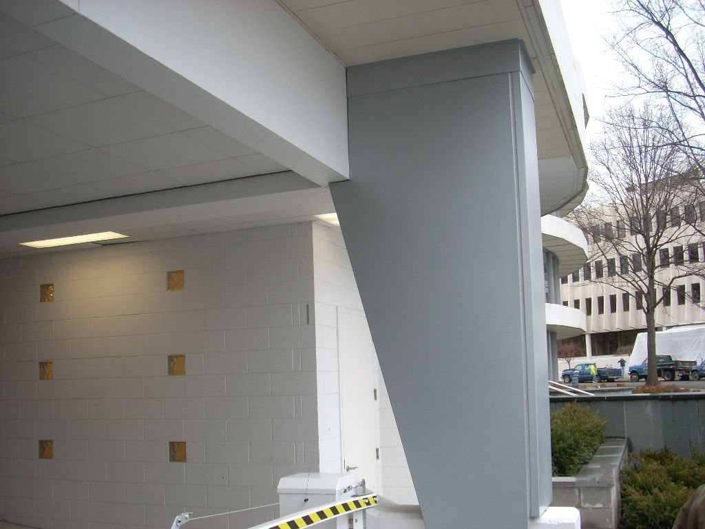WENIG Professionals field measure, manufacture and install custom column covers to your specifications.