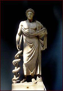 Esculápio jovem, cópia romana da original grega do século IV a.C.