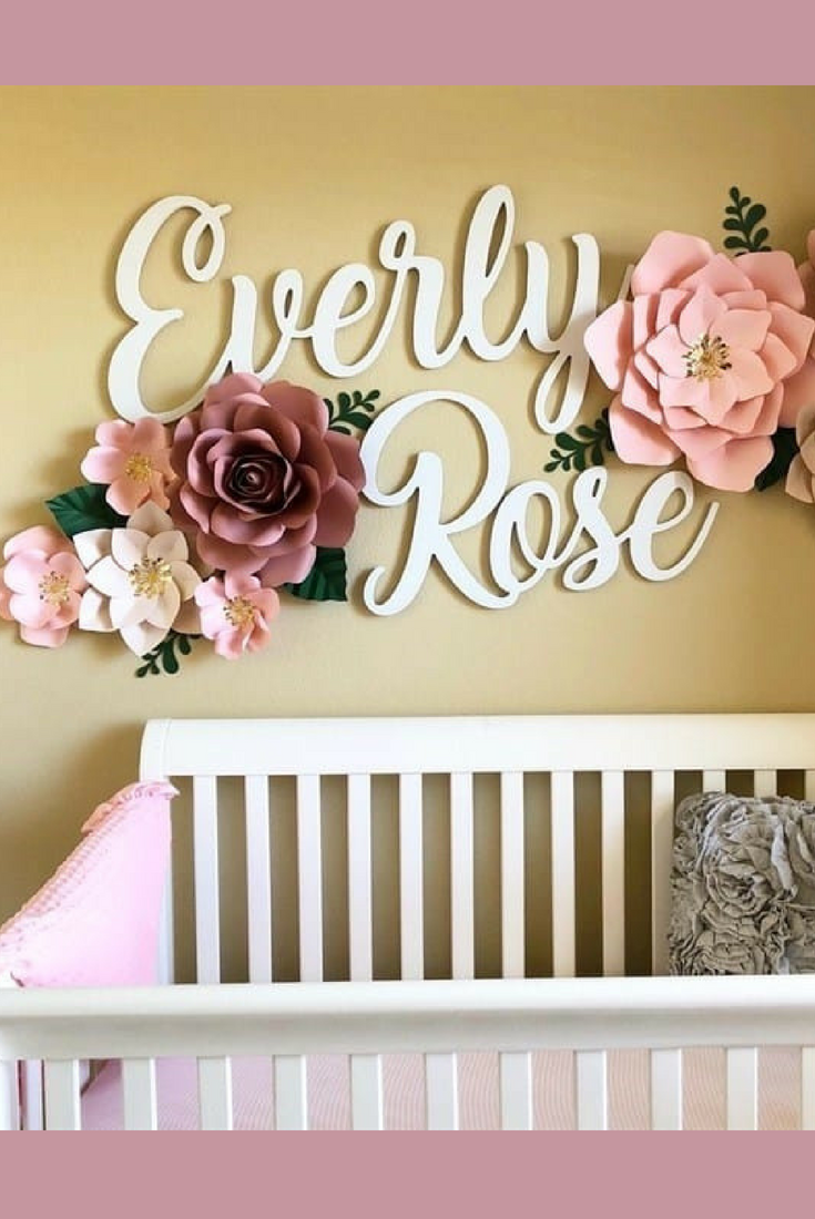 Love This For A Nursery Huge 60 First Middle Name Signs Nursery Decor Baby Shower Gift Baby Girl Nursery Baby Boy Nursery Wall Art Personalized Free
