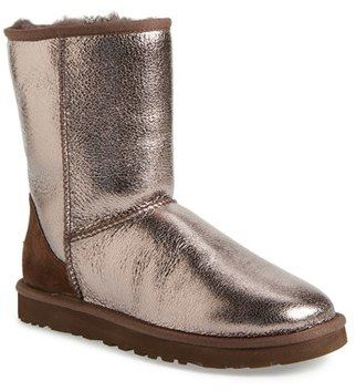 ugg australia classic short metallic boot women fashion rh pinterest com