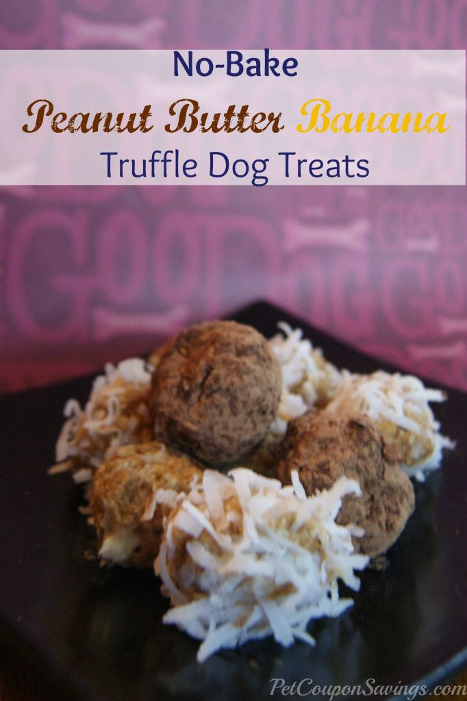 No Bake Peanut Butter Banana Truffle Dog Treats No Bake Dog