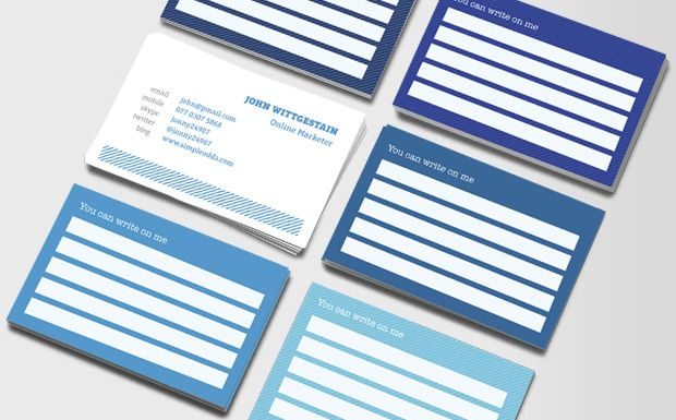 Write On Me Business Cards Cool Business Cards Double Sided Business Cards Business Cards