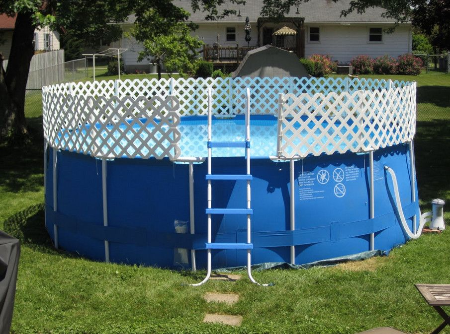 above ground swimming pool fencing - Diy Above Ground Pool Slide