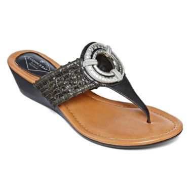 4b5853ebdfc64 St. John s Bay® Dolly Thong Sandals - JCPenney