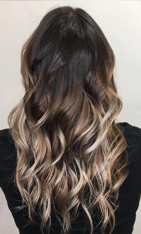 Deep Dark Hair Mocha Hair Color Blending To Lighter Ends This Hair Color Is Perfect For Spring Get The Look Light Hair Color Mocha Color Hair Hair Color Dark