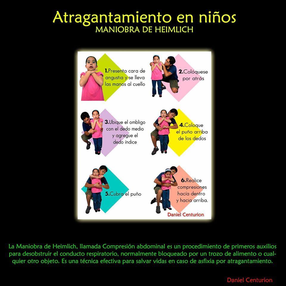 Maniobra Heimlich en niños | Seguridad | Pinterest