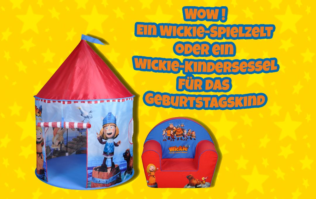 Ein tolles Wickie-Spielzelt und ein Wickie-Kindersessel! Eine super Geschenkidee für das Geburtstagskind  #Wickie #WickieunddiestarkenMänner #Geburtstag #Geschenk #Spielzelt #Kindersessel #Kinderserie #Kindersendung