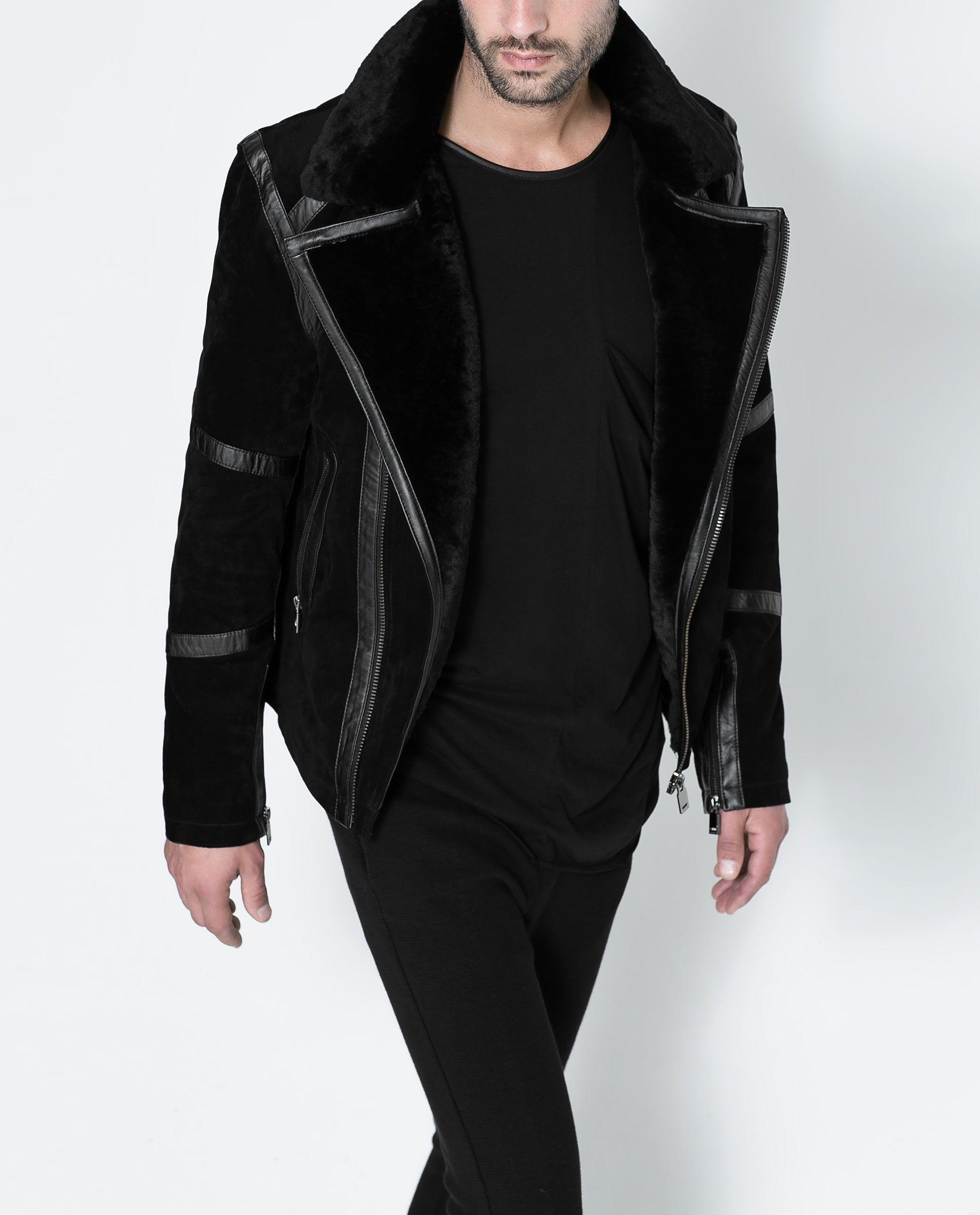 Zara men Zara man leather jacket, Custom leather jackets
