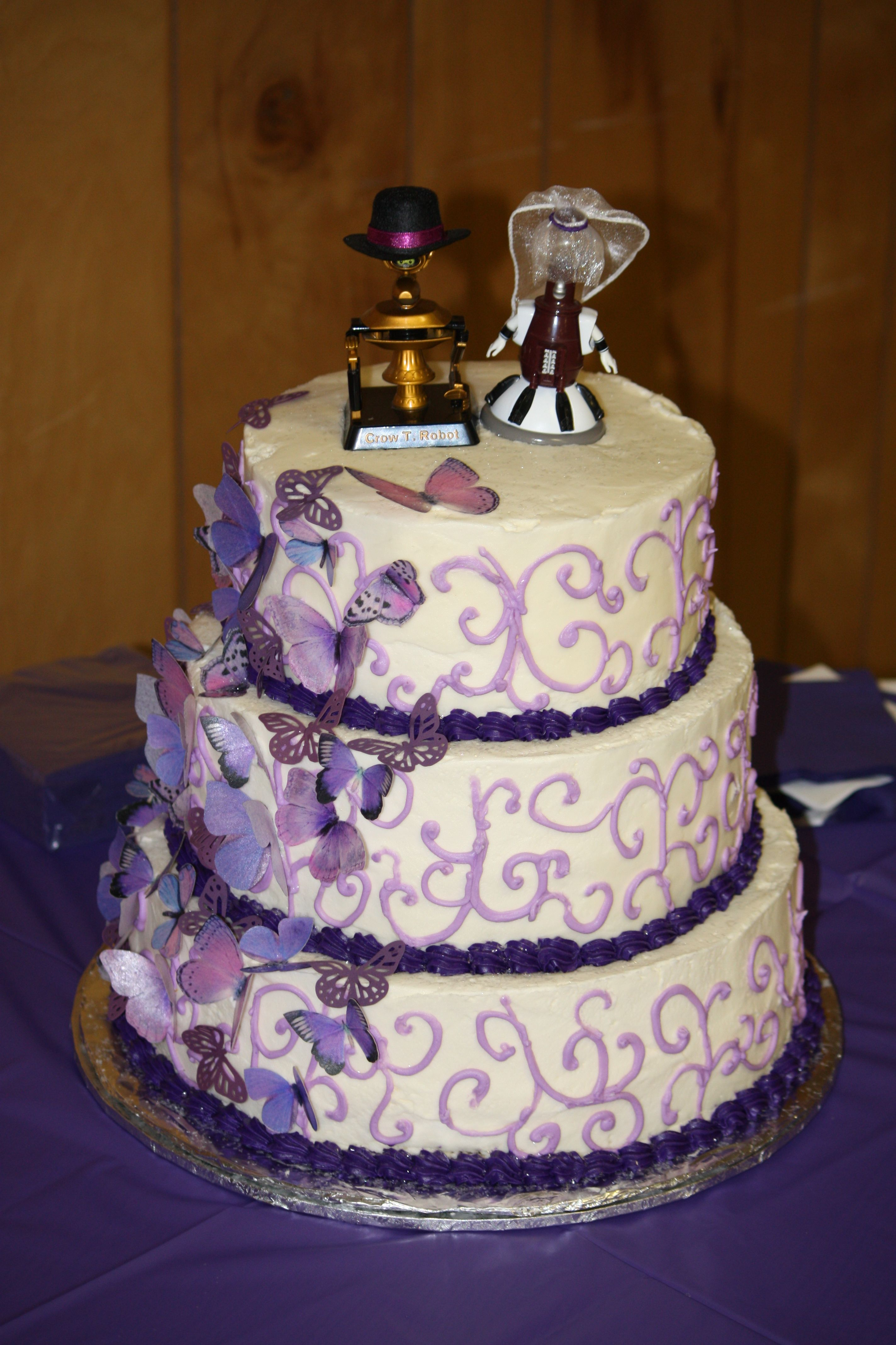 This is my wedding cake it is yellow white and chocolate