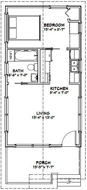 16x30 1 Bedroom House 16x30h1 480 Sq Ft Excellent Floor Plans Tiny House Floor Plans Tiny House Plans Plans Tiny