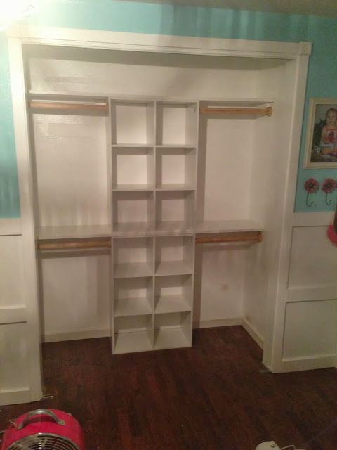 Girls Closet Idea I One Thrifty Chick Quick Fix Organization Easy Transformation