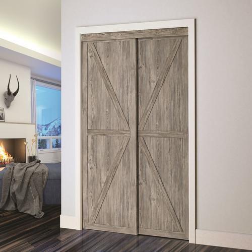 Colonial Elegance Countryside 48 X 80 1 2 Antique Wood Framed K Panel Sliding Closet Door In 2020 Closet Doors Sliding Closet Doors How To Antique Wood