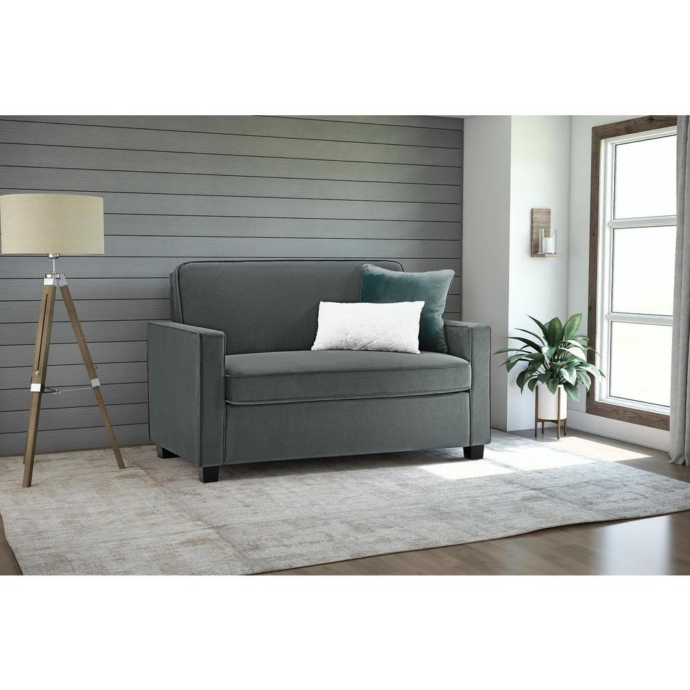 modern sofa light velvet rectangle gray ottoman set with of sleeper