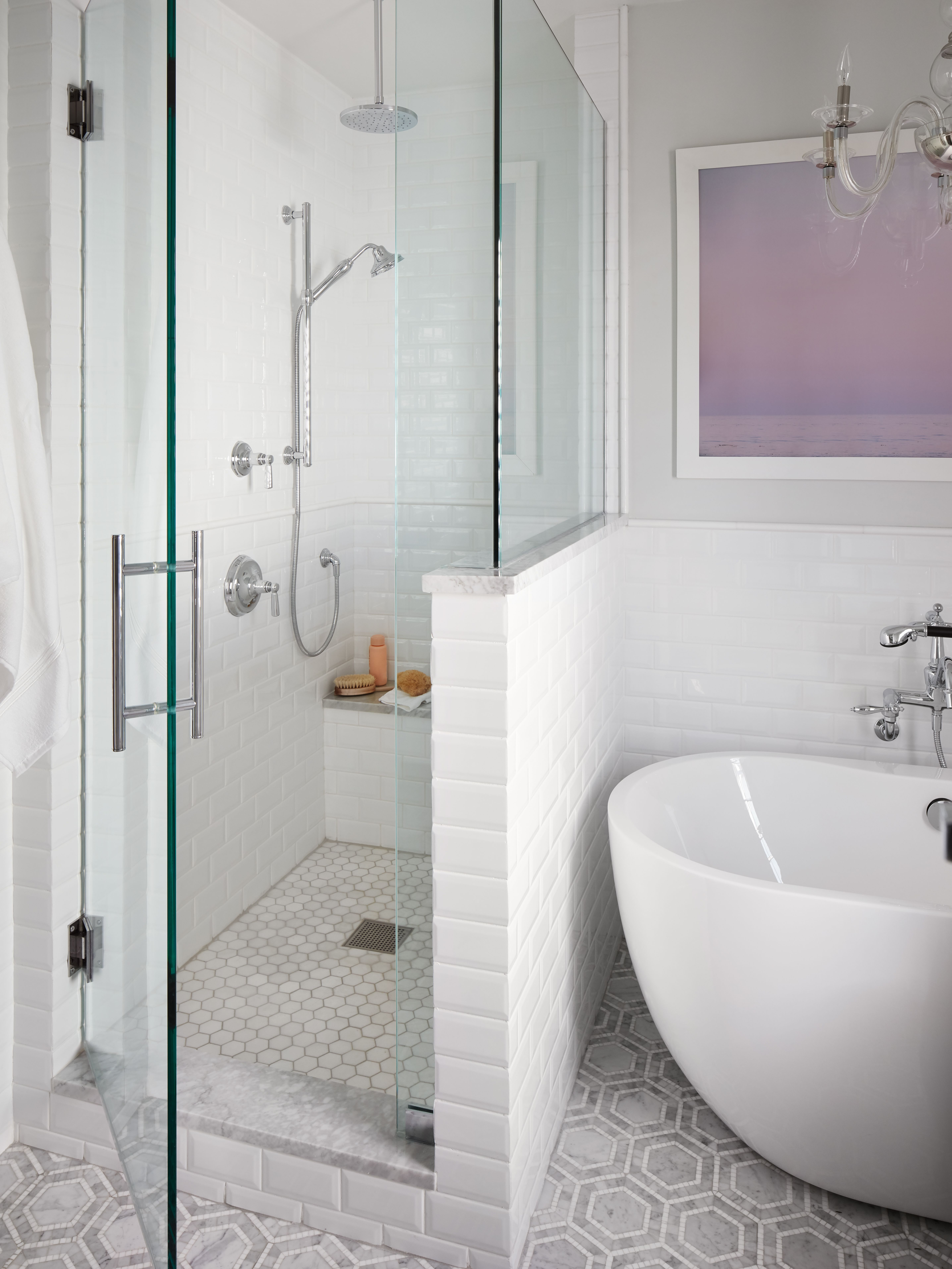 Before And After A Classic Yet Relaxing Master Bath Homepolish Small Master Bath Bathrooms Remodel Bathroom Remodel Master